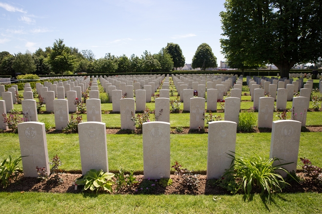 The British cemetery of Bayeux